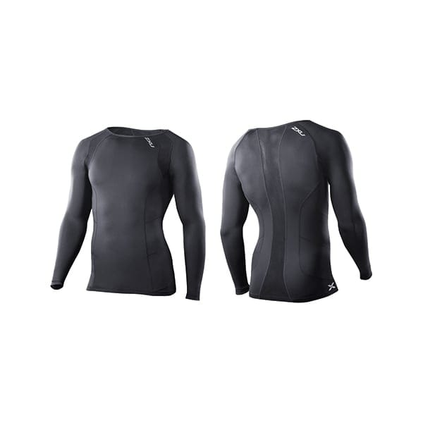 2XU Mens Compression Long Sleeve Crew Neck Top