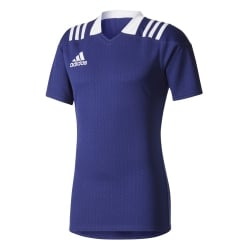 3-Stripes Dark Blue Fitted Rugby Jersey