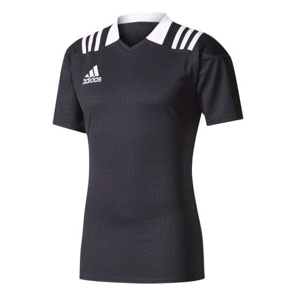 adidas 3-Stripes Fitted Rugby Jersey