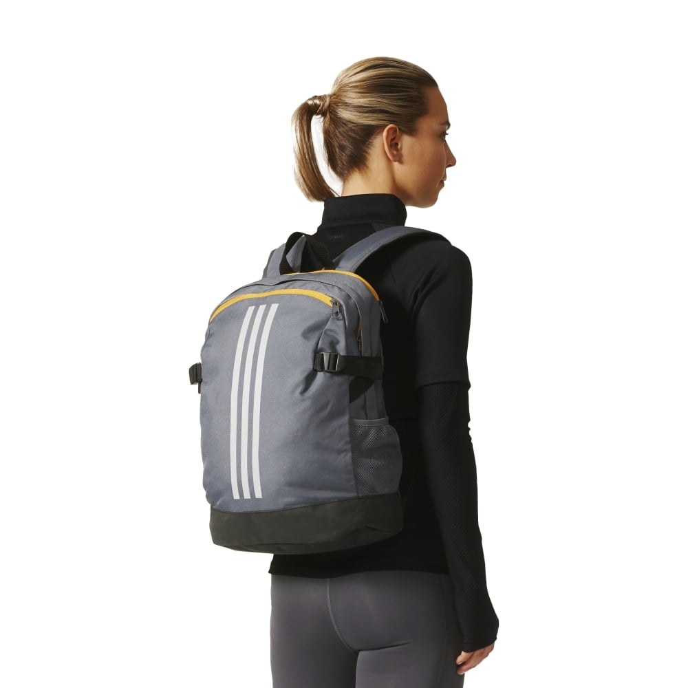 d0968405a1 adidas 3-Stripes Power Backpack Medium in Grey
