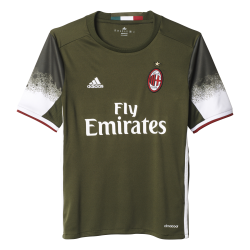 AC Milan 3rd Junior Short Sleeve Jersey 2016/2017