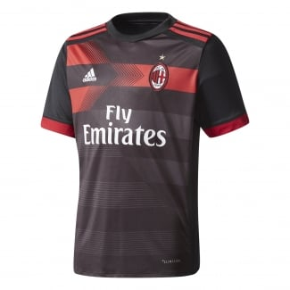 AC Milan 3rd Junior Short Sleeve Jersey 2017/2018