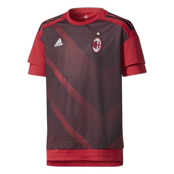 Adidas AC Milan Home Junior Pre-Match Jersey 2017/2018