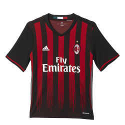 AC Milan Home Junior Short Sleeve Jersey 2016/2017