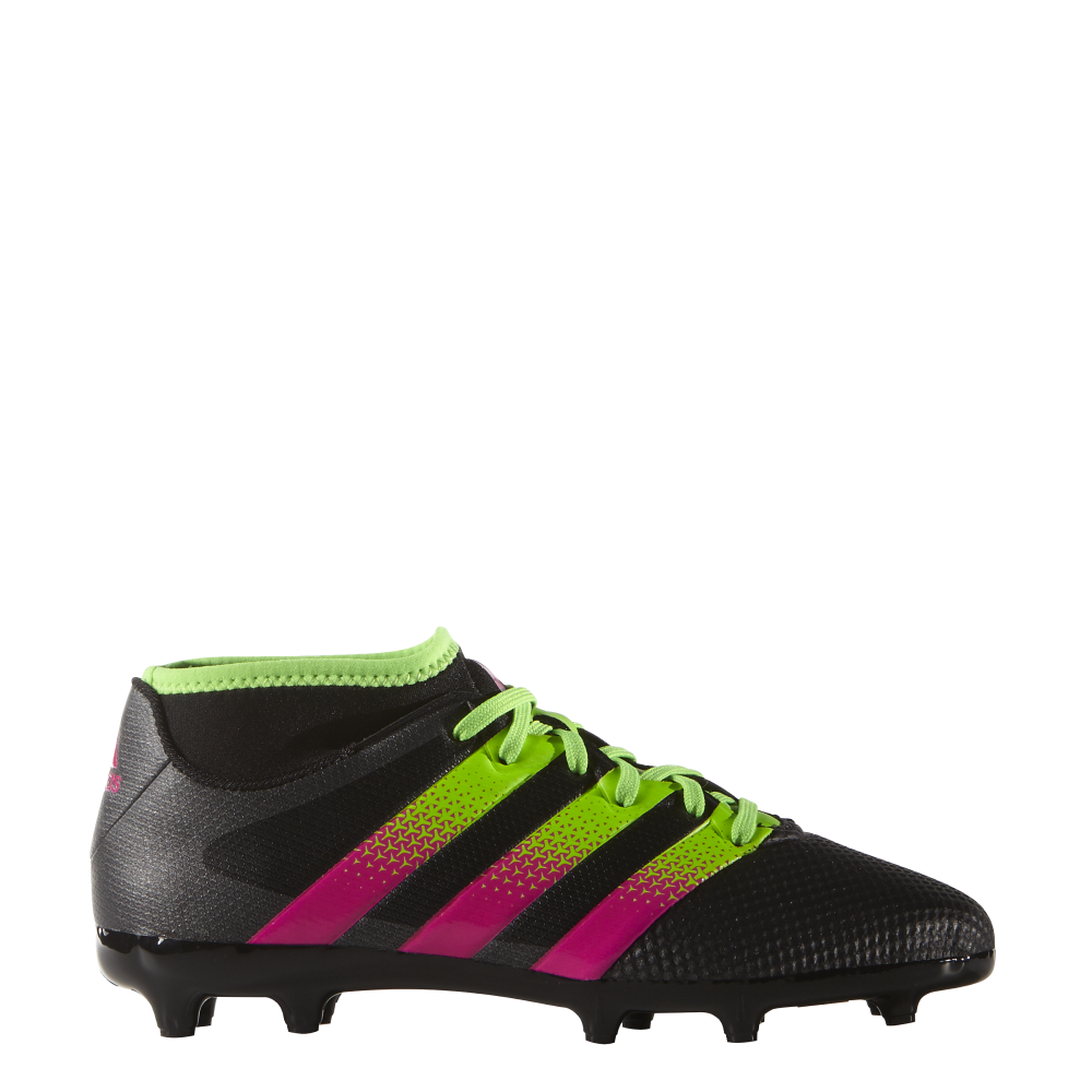 8f63c894b89c adidas Ace 16.3 Primemesh Junior FG AG (sizes 10-2.5) in Black Green ...