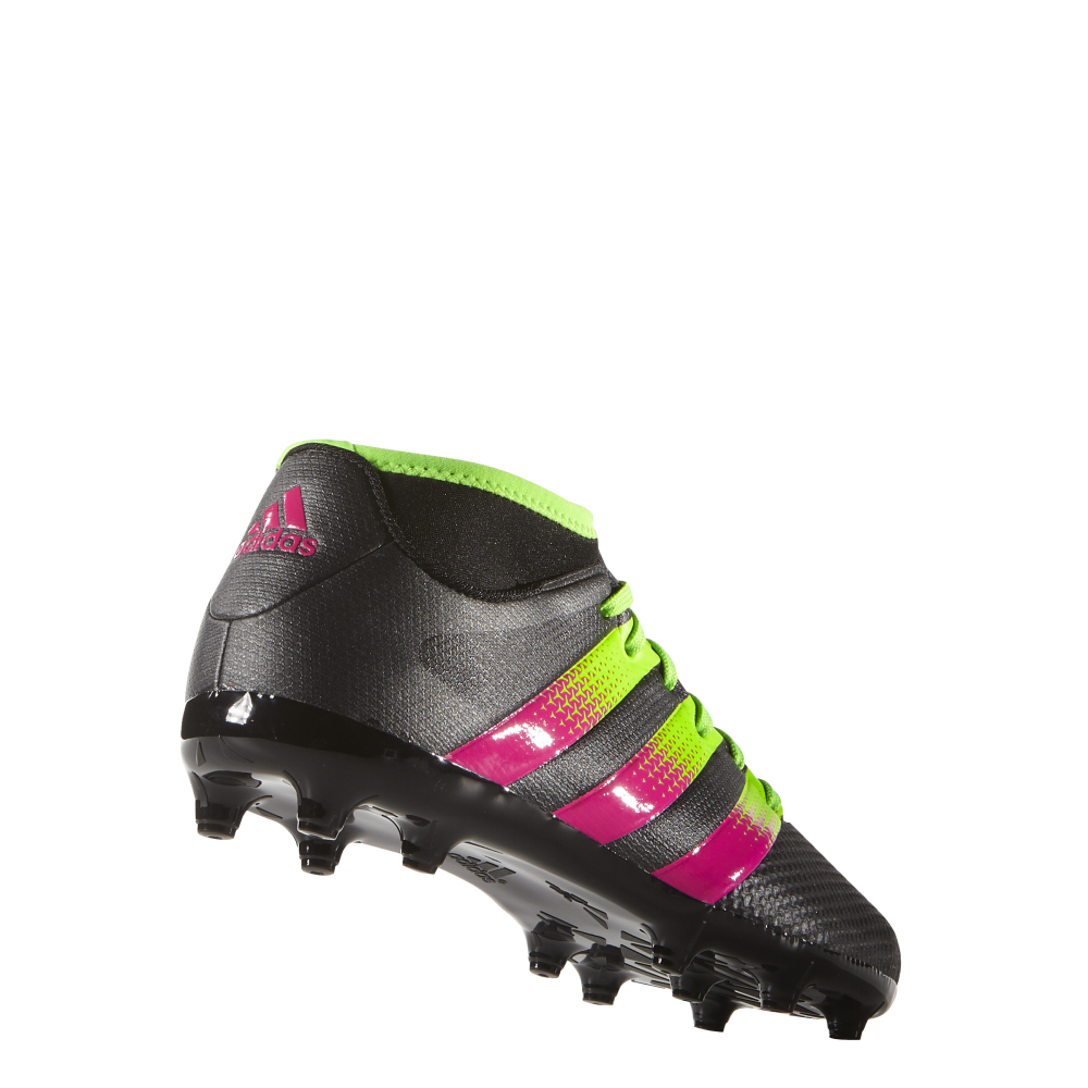 Adidas ace primemesh junior fg / ag (dimensioni 10) in nero / verde