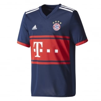 Bayern Munich Away Junior Short Sleeve Jersey 2017/2018