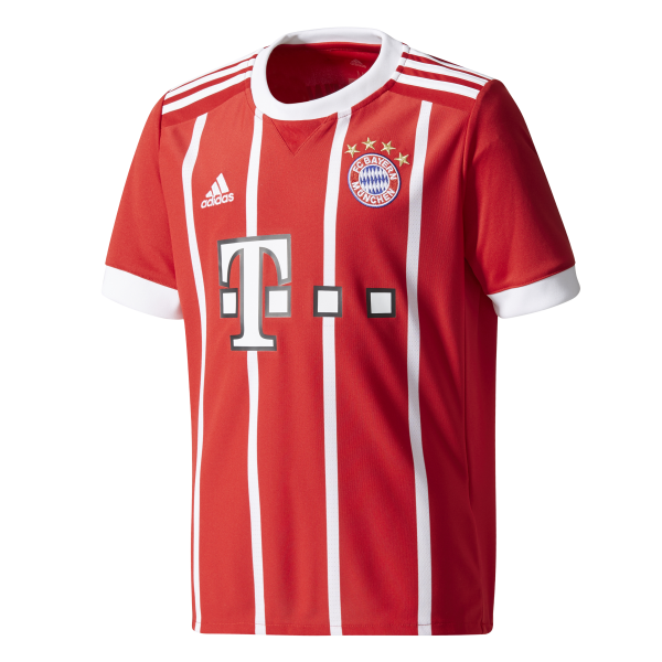 adidas Bayern Munich Home Junior Short Sleeve Jersey 2017/2018