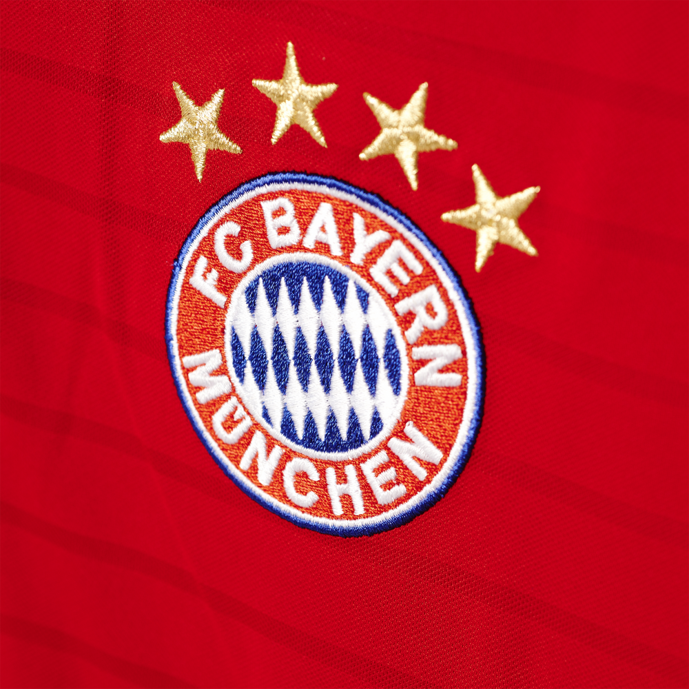 adidas bayern munich home mens long sleeve jersey 2016 2017 in red excell sports uk. Black Bedroom Furniture Sets. Home Design Ideas