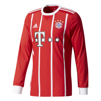 Bayern Munich Home Mens Long Sleeve Jersey 2017/2018