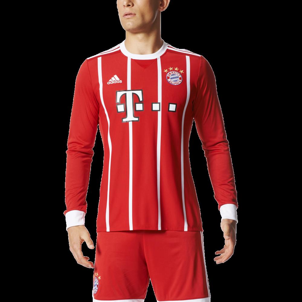 pretty nice f2e1a 65e00 Adidas Bayern Munich Home Mens Long Sleeve Jersey 2017/2018
