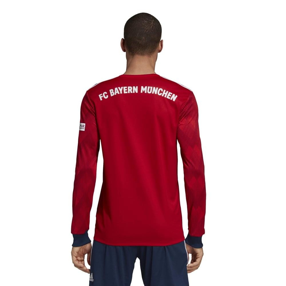 50ea48ed684 Adidas Bayern Munich Home Mens Long Sleeve Jersey 2018/2019 - Adidas ...