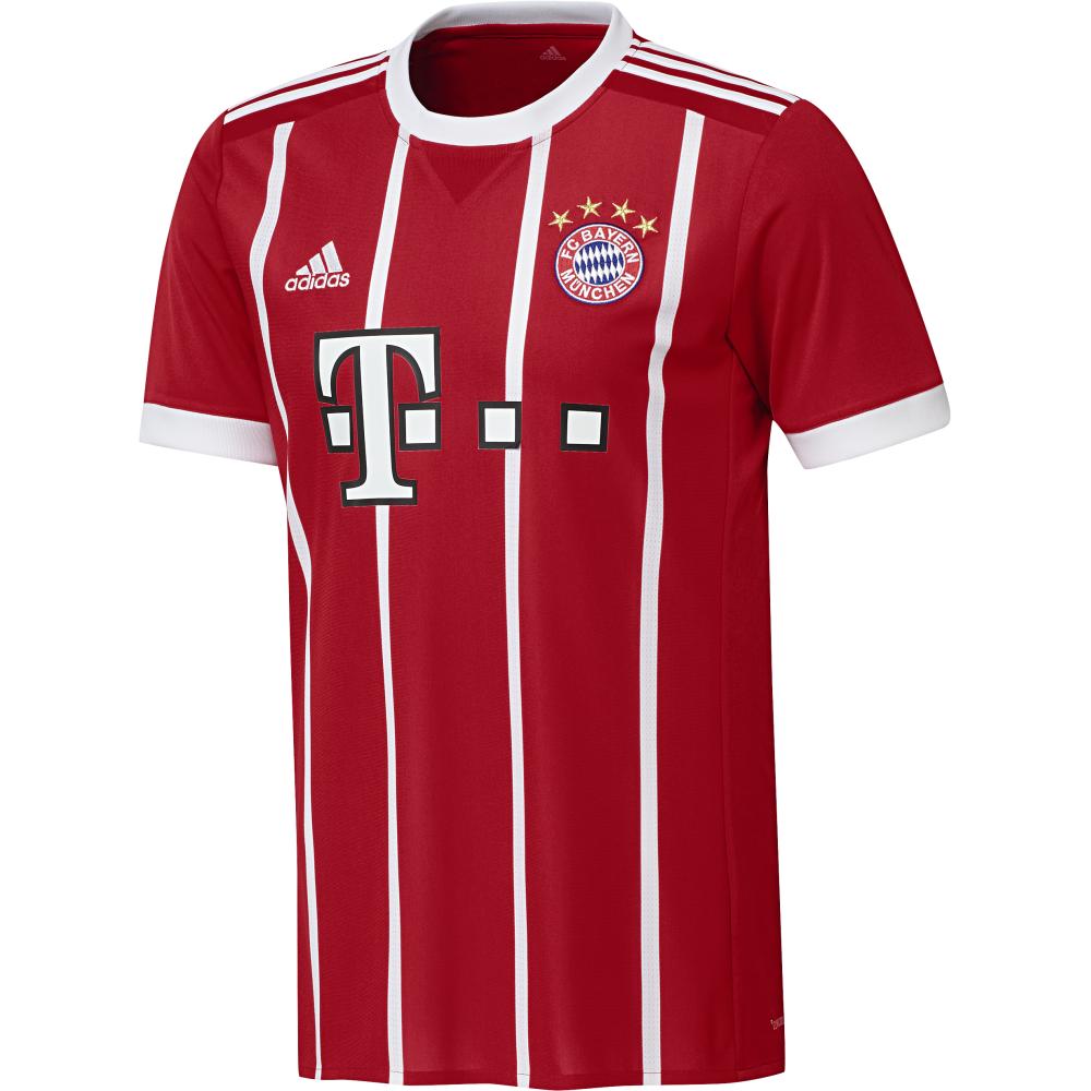 sale retailer f7984 7dd61 Adidas Bayern Munich Home Mens Short Sleeve Jersey 2017/2018