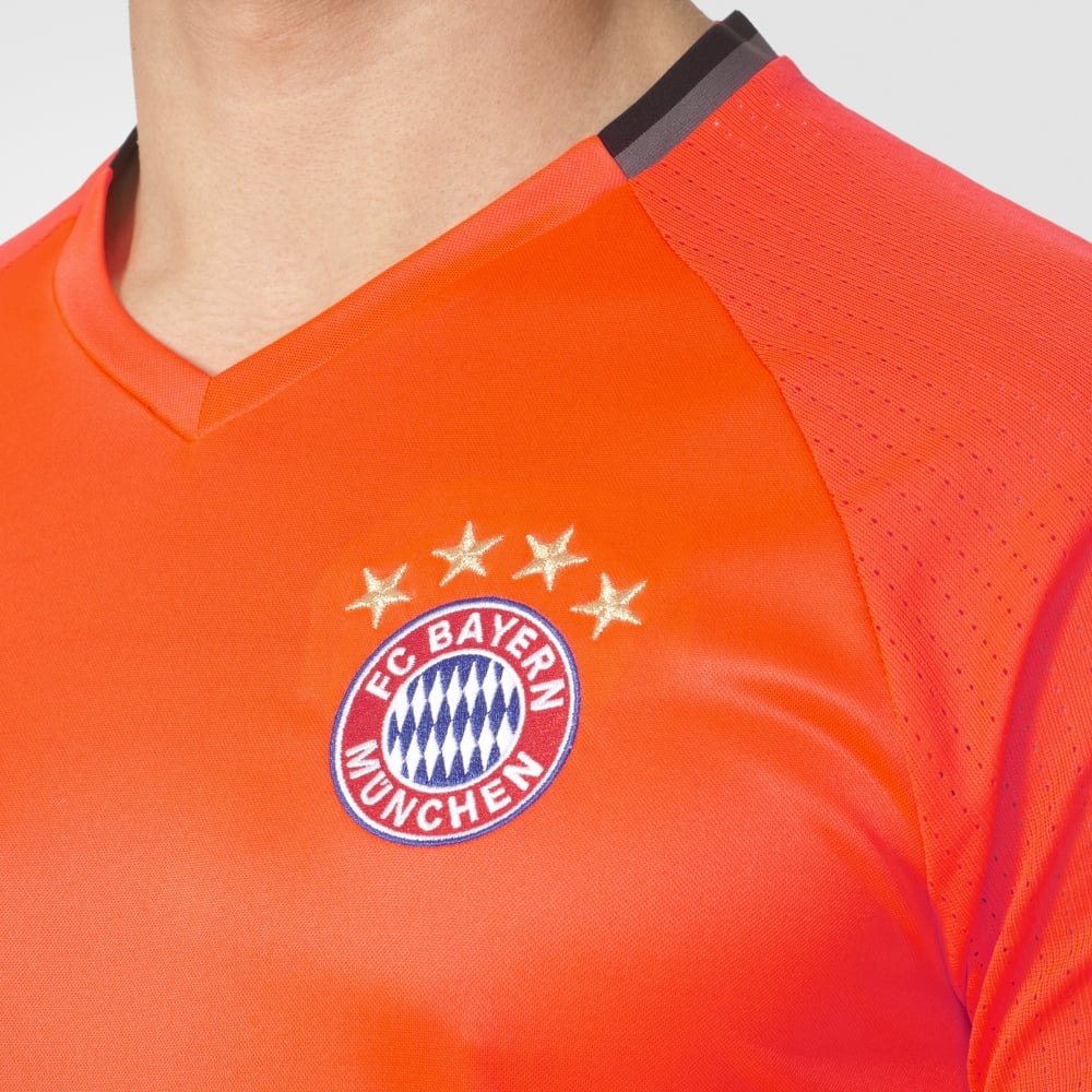 on sale 9783d fc6ca adidas Bayern Munich Mens Training Jersey in Orange | Excell ...