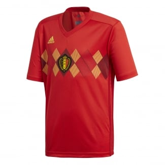 Belgium Home Junior Short Sleeve Jersey 2018