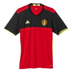 Belgium Home Mens Short Sleeve Jersey 2016