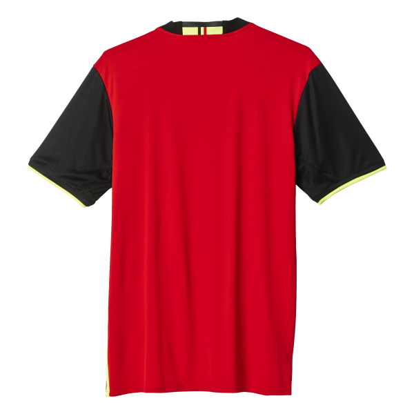 adidas Belgium Home Mens Short Sleeve Jersey 2016