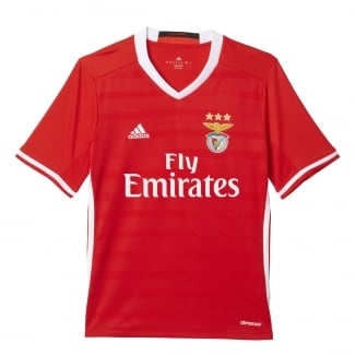 Benfica Home Junior Short Sleeve Jersey 2016/2017