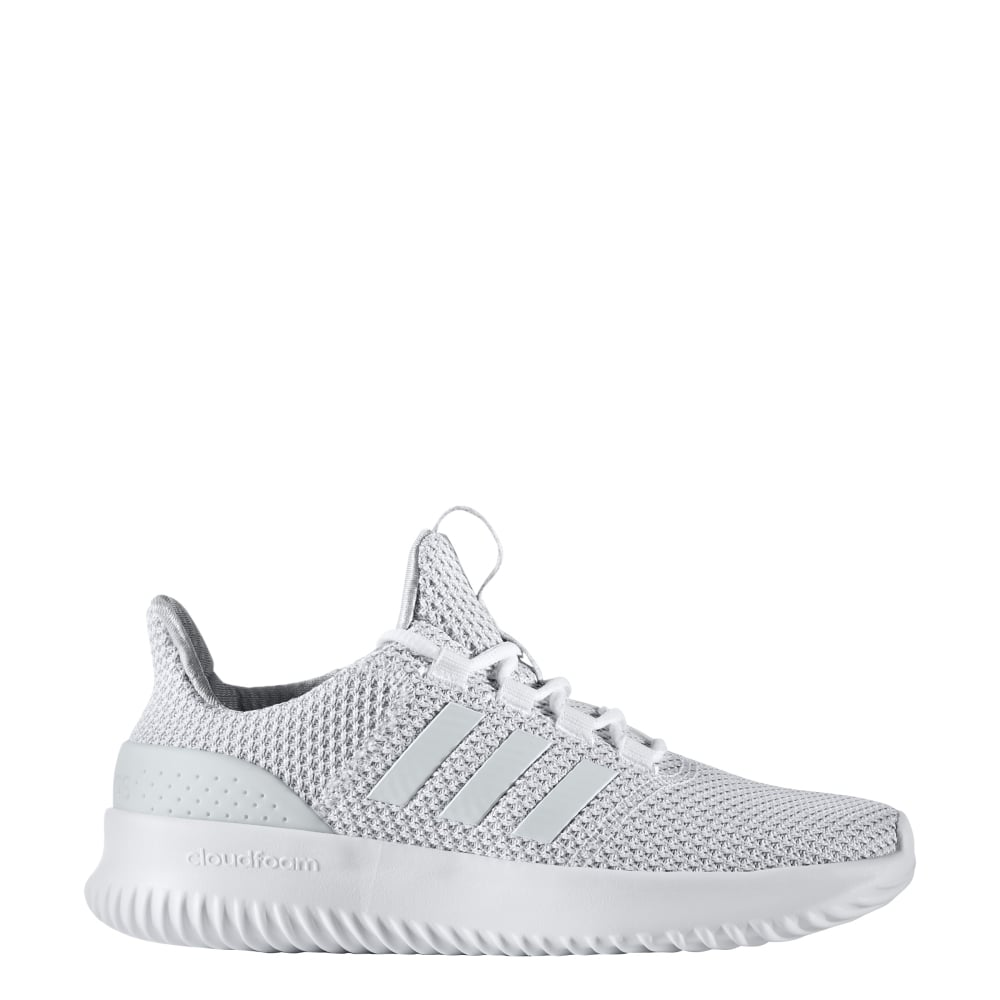 76ee17810ba14 adidas Cloudfoam Ultimate Junior Shoes (10-2.5) in White | Excell Sports UK