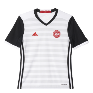 Denmark Away Junior Short Sleeve Jersey 2016