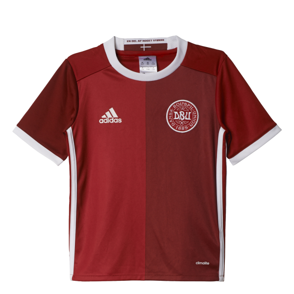 adidas Denmark Home Junior Short Sleeve Jersey 2016