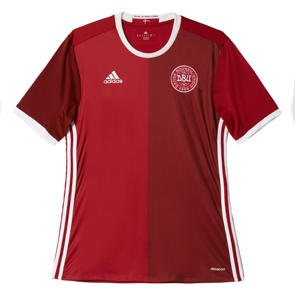 Adidas Denmark Home Mens Short Sleeve Jersey 2016