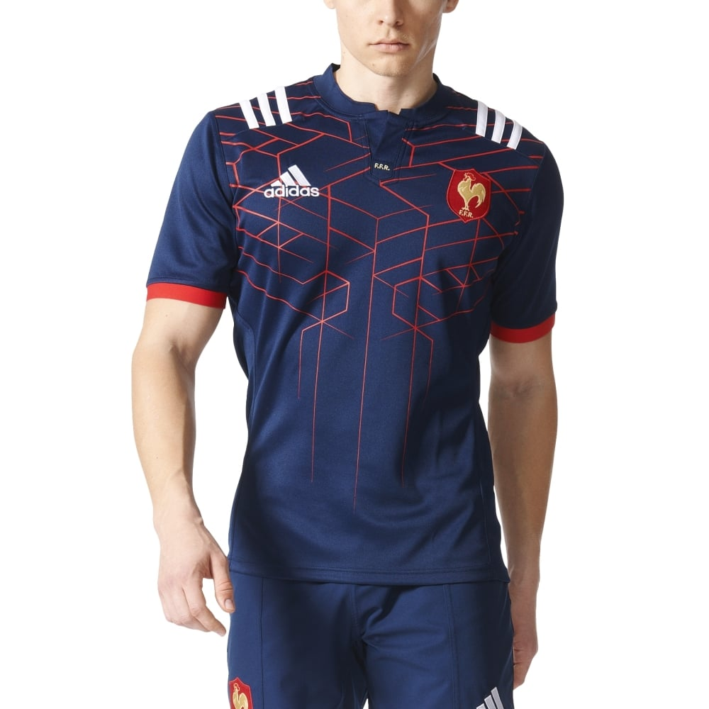Adidas Rugby Home: Adidas France Home Rugby Jersey