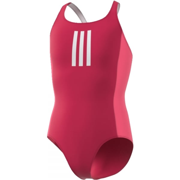 Adidas Girls Back-to-School 3-Stripes Swimsuit
