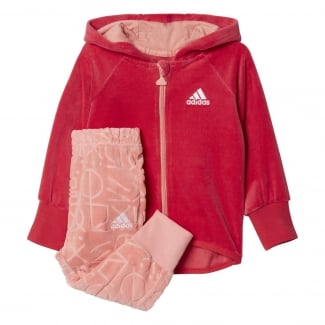 Girls Velour Full Zip Hood Jogger