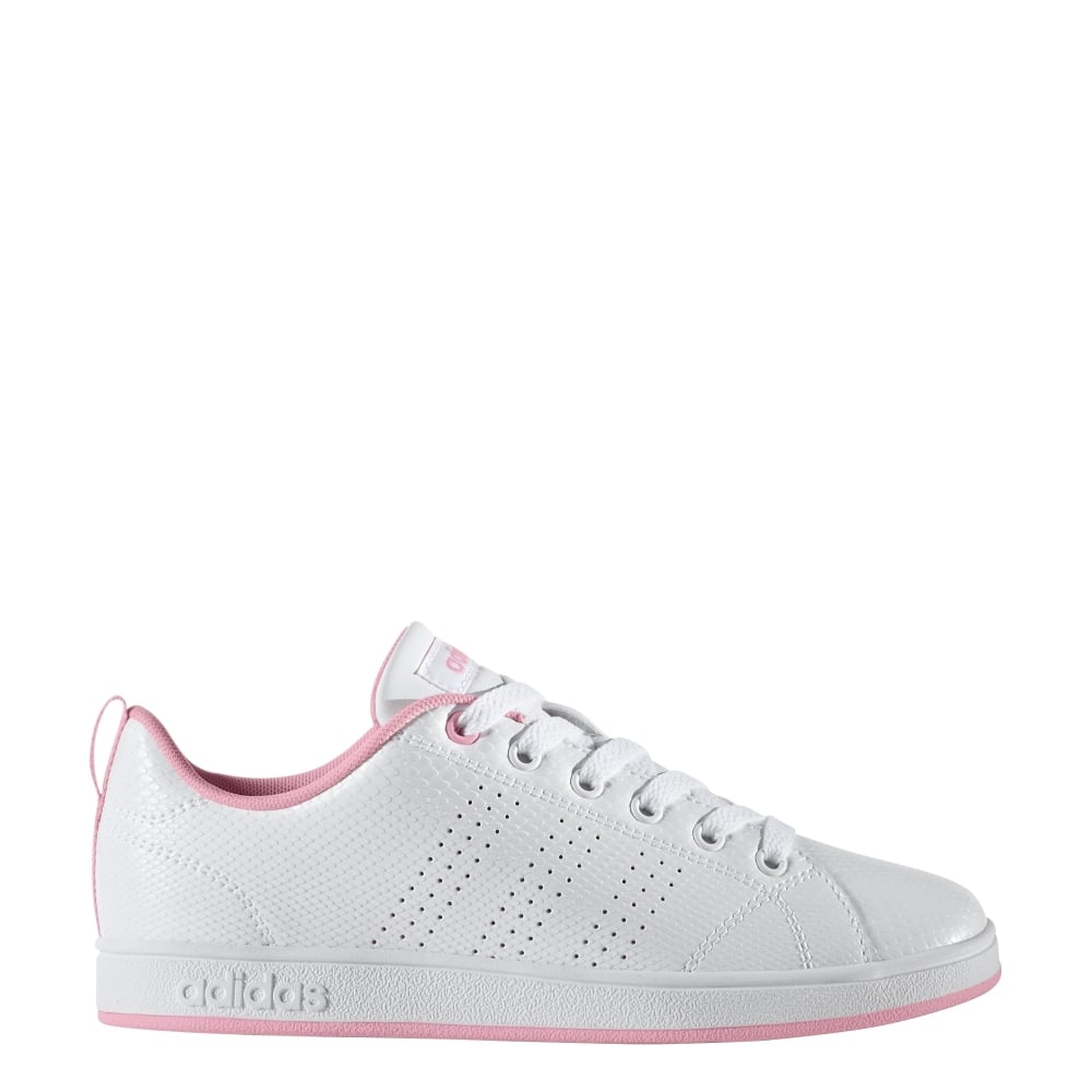 6615209ddd7b adidas Girls VS Advantage Clean Shoes (sizes 3-5.5) in White Pink ...