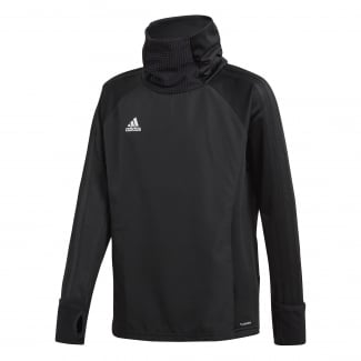 Junior Condivo 18 Black Player Focus Warm Top