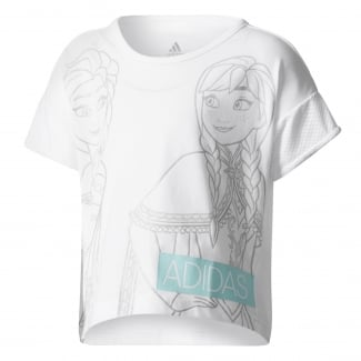 Little Girls Disney Frozen Cropped Tee