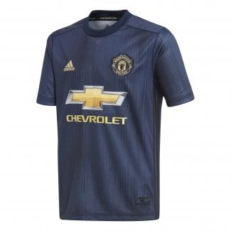 Manchester United 3rd Junior Short Sleeve Jersey 2018/2019