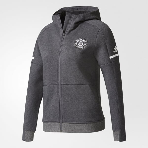 adidas Manchester United Away Junior Anthem Squad Hoodie 2017/2018
