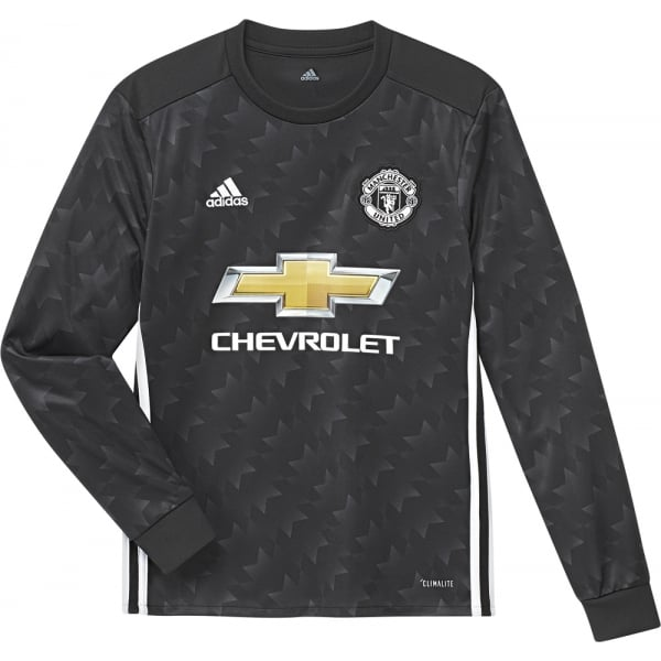 adidas Manchester United Away Junior Long Sleeve Jersey 2017/2018