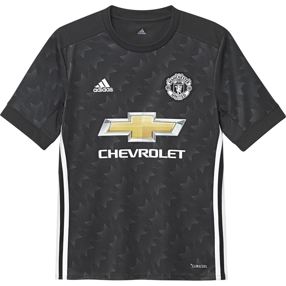 pretty nice 294e1 9c4a0 Adidas Manchester United Away Junior Short Sleeve Jersey 2017/2018