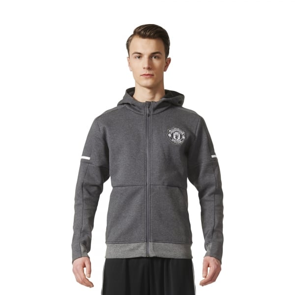 adidas Manchester United Away Mens Anthem Squad Hoodie 2017/2018