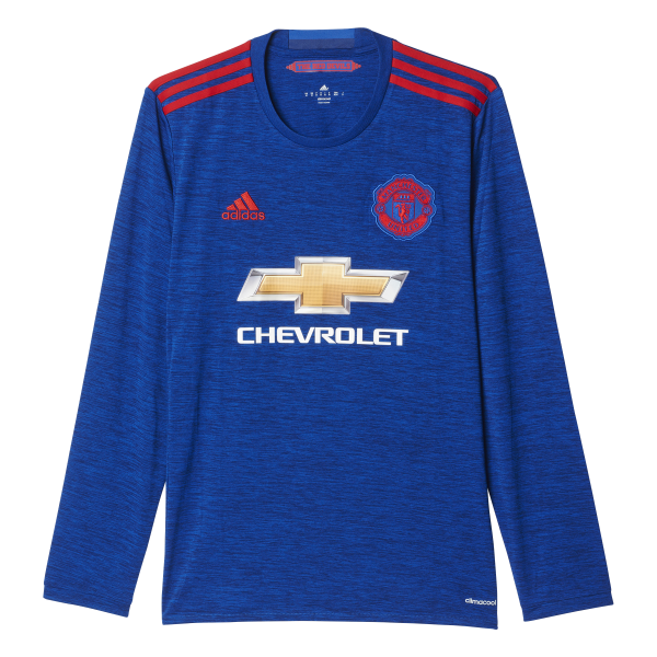 Adidas Manchester United Away Mens Long Sleeve Jersey 2016/2017