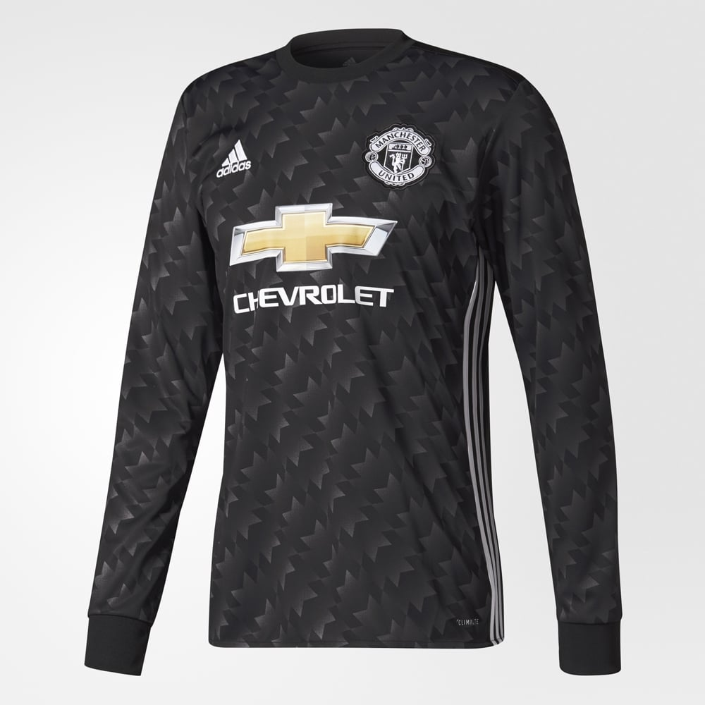 adidas Manchester United Away Mens Long Sleeve Jersey 2017/2018 - Adidas from Excell Sports UK