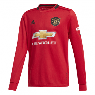 062de8dfe Manchester United Home Junior Long Sleeve Jersey 2019 2020 · Adidas ...
