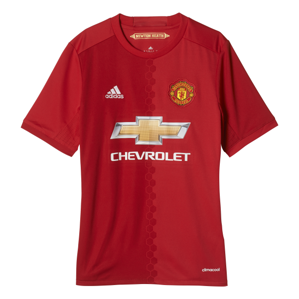 adidas Manchester United Home Junior Short Sleeve Jersey 2016/2017