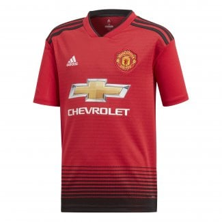 Manchester United Home Junior Short Sleeve Jersey 2018/2019