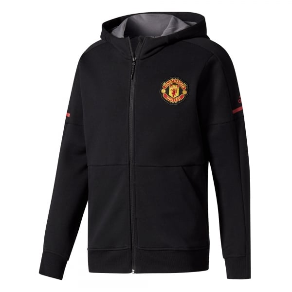 adidas Manchester United Home Mens Anthem Squad Hoodie 2017/2018