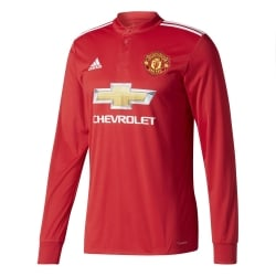 Manchester United Home Mens Long Sleeve Jersey 2017/2018