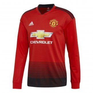 Manchester United Home Mens Long Sleeve Jersey 2018/2019