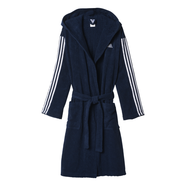 adidas Mens 3 Stripe Bathrobe