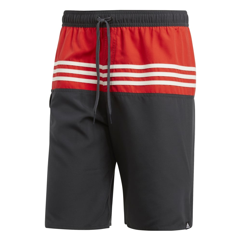 2d6000603d1 Adidas Mens 3 Stripes Colourblock Swim Shorts - Adidas from Excell Sports UK