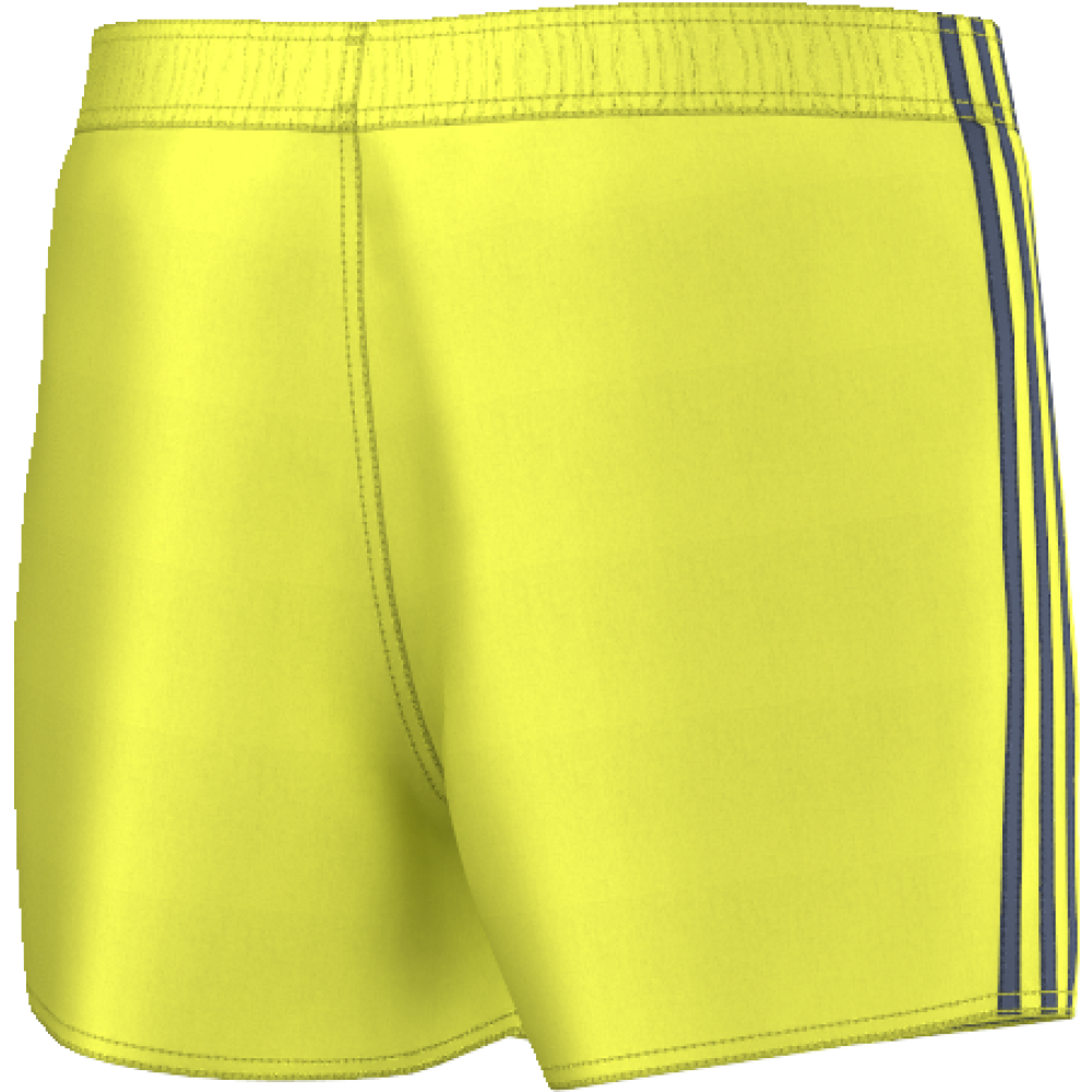 1a9f25ae3c adidas Mens 3 Stripes Swim Short - Short Length in Yellow/Blue | Excell  Sports UK