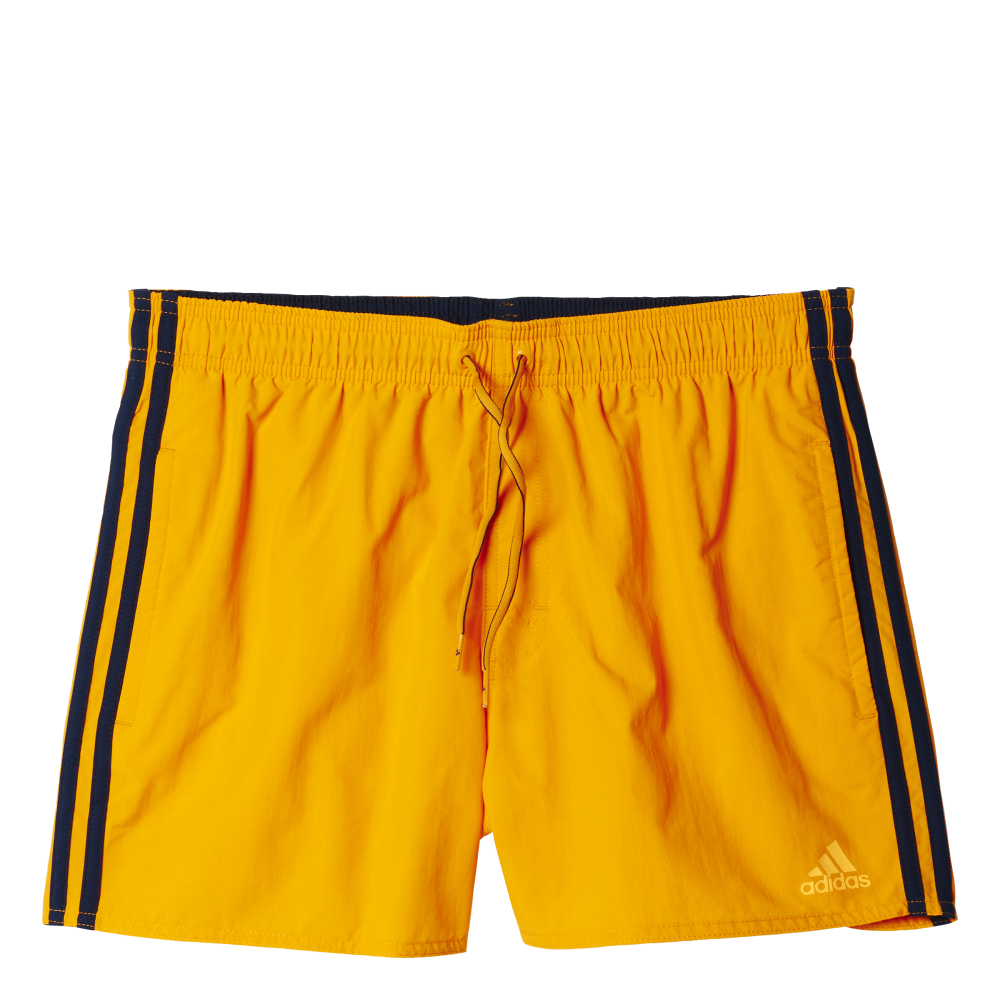 6499b0124e adidas Mens 3 Stripes Swim Short - Short Length in Orange | Excell Sports UK