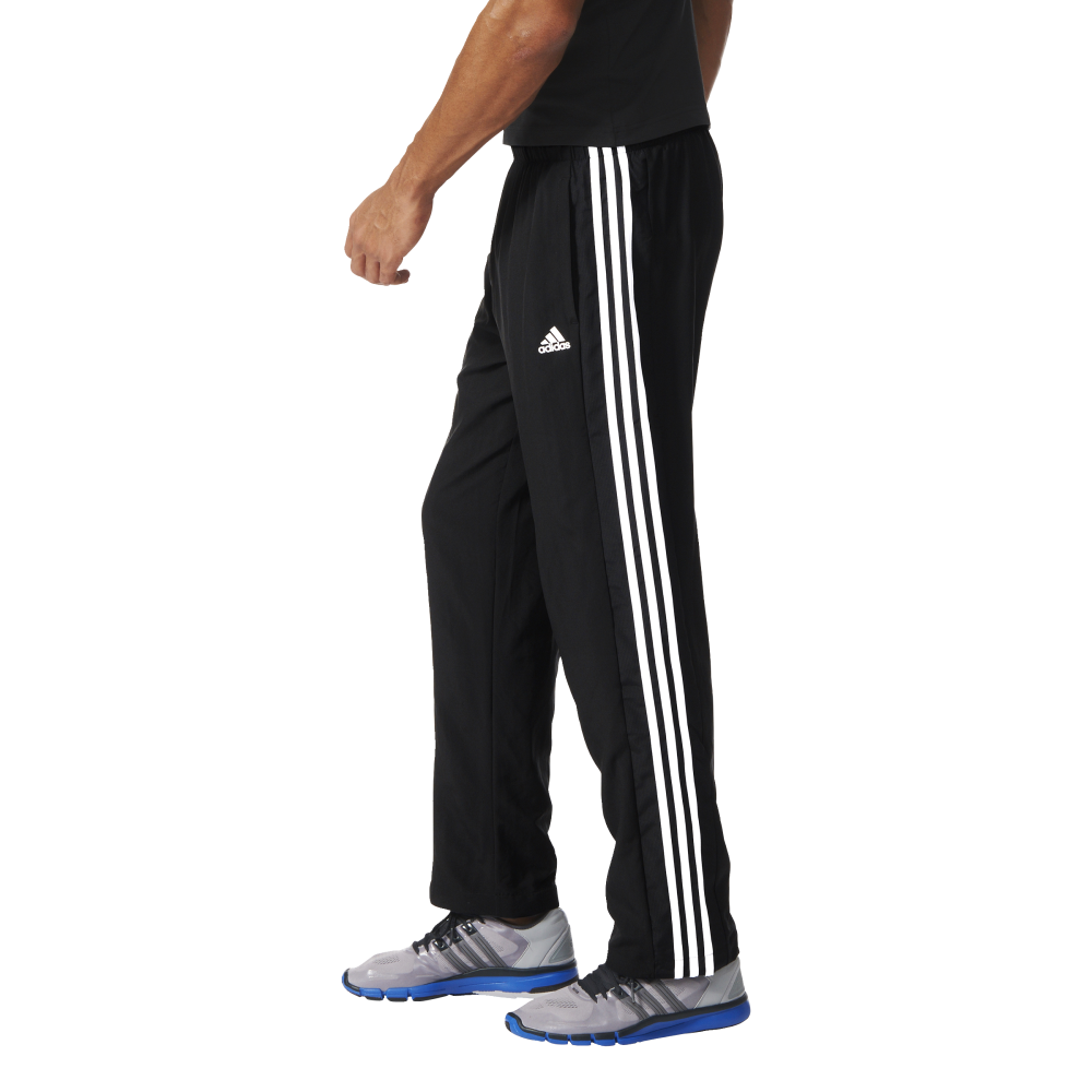 ... Adidas Mens Essentials 3 Stripes Woven Pant Black ...